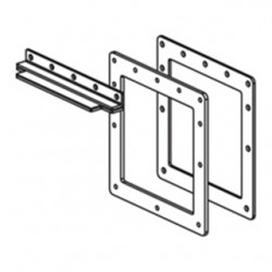 Roxtec - 88-12LBC - Roxtec 88-12LBC Wireway Box Connector, Type 12, Lay-In, 8 In x 8 In, Steel, Gray