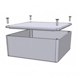 Hammond Manufacturing - 1590UFL - Hammond Mfg 1590UFL Enclosure, IP54, Screw Cover, 4.70 x 4.70 x 2.17, Aluminum