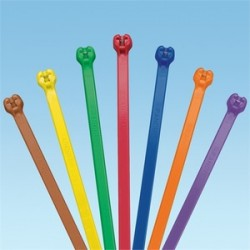 Panduit - BT2M-M2 - Panduit BT2MM Plenum Dome-Top Barb Ty Cable Ties with Metal Barb, 7.9in, Miniature Cross Section