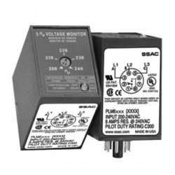 Littelfuse - PLM9405 - PLM9405 - SSAC 3 Phase Voltage Monitor 480VAC 4%VUB 5s Trip 8-PIN