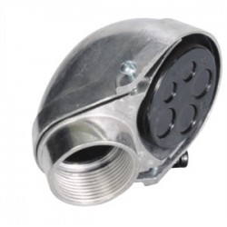 Steel Electric Products - 1210 - Steel Electric Products 1210 Service Entrance Fitting, Size: 4, Material: Aluminum