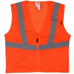 Lift Safety - AVV-10E1L - Lift Safety AVV-10E1L Safety Vest, Viz-Pro - Size: X-Large, Orange