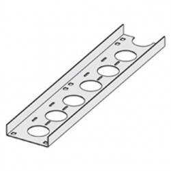 Eaton Electrical - ACC-04-144 - Cooper B-Line ACC-04-144 Channel Cable Tray, Straight Section, 4 Wide, Ventilated, 12' Long, Aluminum