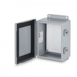 Austin Electrical Enclosures - 24129WS/MEC - Austin Electrical Enclosures 24129WS/MEC Enclosure, NEMA 3R, Hinged Cover, 24 x 12 x 9, Wall Mount