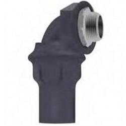 Calbond - PV0500LT5090 - Calbond PV0500LT5090 Liquid Tight Connector, 90, 1/2, PVC Coated Steel