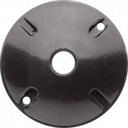 RAB Lighting - C100A - RAB C100A Weatherproof Round Cover, Diameter: 4-1/2, (1) 1/2 Hubs, Die Cast