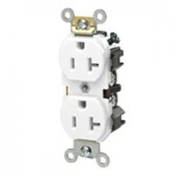 Leviton - 5342-W - Leviton 5342-W 20 Amp, 125 Volt, Narrow Body NEMA 5-20R, White