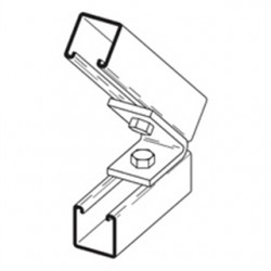 Eaton Electrical - B155PAZN - Cooper B-Line B155PAZN Closed Angle Fitting, Two Hole, Pre-Assembled, 45, Steel/Zinc