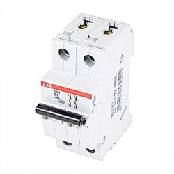 ABB - S202-D2 - ABB S202-D2 Circuit Breaker, Miniature, DIN Rail Mount, 2A, 2P, 480Y/277VAC