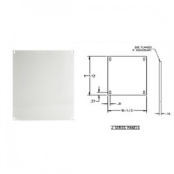 E-Box - 1412PJ - E-Box 1412PJ Panel For NEMA 4 -12 & 3R Enclosures, Size: 14 x 12, Steel/Painted