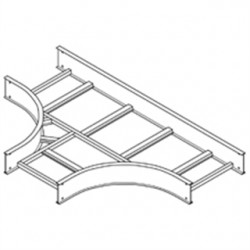 Eaton Electrical - 4A-12-HT12 - Cooper B-Line 4A-12-HT12 Cable Tray Horizontal Tee, 12 Width, 12 Radius, 4 Deep, Aluminum