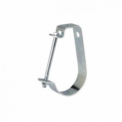 Eaton Electrical - B3690112ZN - Cooper B-Line B3690112ZN Pipe Hanger, Adjustable J Hanger, 1-1/2, Steel/Zinc Plated