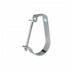 Eaton Electrical - B3690112ZN - Cooper B-Line B3690112ZN Pipe Hanger, Adjustable J Hanger, 1-1/2, Steel/Zinc Plated