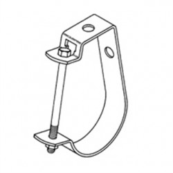 Eaton Electrical - B3690114ZN - Cooper B-Line B3690114ZN Pipe Hanger, Adjustable J Hanger, 1-1/4, Steel/Zinc Plated