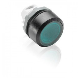 ABB - MP1-31G - ABB MP1-31G Pushbutton Momentary Green Flush Illuminated Metal
