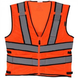 Lift Safety - AV2-10E2L - Lift Safety AV2-10E2L Safety Vest, Viz-Pro 2 - Size: XX-Large, Orange