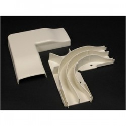Wiremold / Legrand - 2311DFO-WH - Wiremold 2311DFO-WH Radius Divided Flat Elbow / 2300D Series Raceway, White