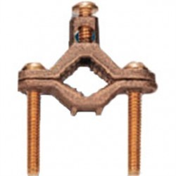 Steel Electric Products - 10BR - Steel Electric Products 10BR Ground Clamp, 1/2 to 1, Bronze