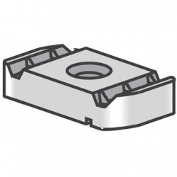 Atkore - PS NS 1/4 EG - Power-Strut PS NS 1/4 EG Channel Nut Without Spring, 1/4, Steel/Electro-Galvanized