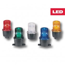 Federal Signal - LP3SL-024R - Federal Signal LP3SL-024R Beacon, Type: Steady/LED, Low-Profile, 120VAC, Surface Mount