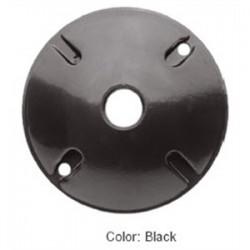 RAB Lighting - C100B - RAB C100B Weatherproof Cover, Round, Diameter: 4, 3-Hole, Black, Aluminum
