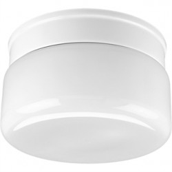 Progress Lighting - P3518-30 - Progress Lighting P3518-30 Drum Fixture, 2-Light, 60W, White