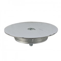 Wiremold / Legrand - 1043S - Wiremold 1043S Blanking Top Plate, Diameter: 3-1/2, Stainless Steel