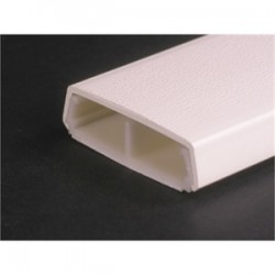 Wiremold / Legrand - 2300BACD-WH - Wiremold 2300BACD-WH Raceway Base & Cover, Non-Metallic, White, 2-1/4 x 5'