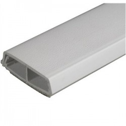 Wiremold / Legrand - 2300BACD - Wiremold 2300BACD Divided Raceway Base & Cover, Non-Metallic, Ivory, 2-1/4 x 5'