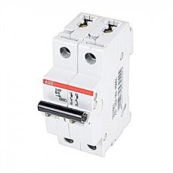 ABB - S202-D6 - ABB S202-D6 Circuit Breaker, Miniature, DIN Rail Mount, 6A, 2P, 480Y/277VAC
