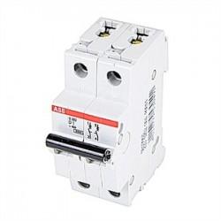 ABB - S202-D1 - ABB S202-D1 Circuit Breaker, Miniature, DIN Rail Mount, 1A, 2P, 480Y/277VAC