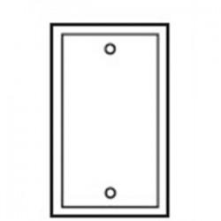 Cooper Wiring Devices - 2129W-BOX - Cooper Wiring Devices 2129W-BOX Blank Wallplate, 1-Gang, Thermoset, White