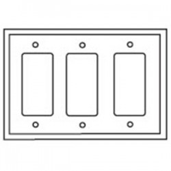 Cooper Wiring Devices - 2163W-BOX - Cooper Wiring Devices 2163W-BOX Decroa/GFCI Wallplate, 3-Gang, Thermoset, White