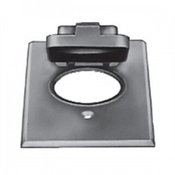 Red Dot - CCPO-L - Red Dot CCPO-L Weatherproof Receptacle Cover, 1-Gang, Single Receptacle, Aluminum