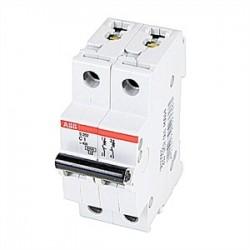 ABB - S202-C1 - ABB S202-C1 Circuit Breaker, Miniature, DIN Rail Mount, 1A, 2P, 480Y/277VAC