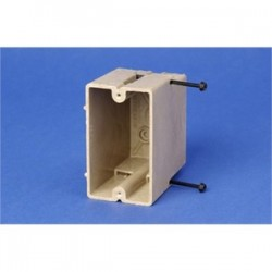 Allied Moulded - 1096-SS - Allied Moulded 1096-SS Switch/Outlet Box, 1-Gang, Depth: 3, Nail-On, Non-Metallic