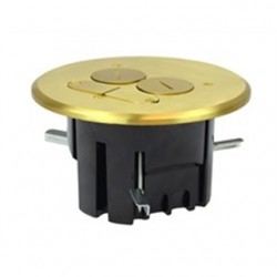 Allied Moulded - FB-4 - Allied Moulded FB-4 Floor Box Assembly, Round, Includes (2) Screw Plugs, Brass