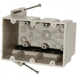 Allied Moulded - 3300-NK - Allied Moulded 3300-NK Switch/Outlet Box, 3-Gang, Depth: 3, Nail-On, Non-Metallic