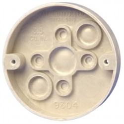 Allied Moulded - 9304 - Allied Moulded 9304 Ceiling/Fixture Pan, 3-3/8 Round, Depth: 5/8, Thermoset-Fiberglass