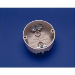 Allied Moulded - 9369-FB - Allied Moulded 9369-FB 4 Round Ceiling/Fixture Box, Depth: 1-5/8, Surface Mount, Non-Metallic