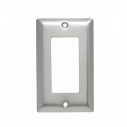 Pass & Seymour - SS26 - Pass & Seymour SS26 Decora/GFCI Wallplate, 1-Gang, Stainless Steel, Standard
