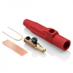 Leviton - 15D21-UR - Leviton 15D21-UR Cam-Type, Detachable Male Plug Set Screw, 125A, Red
