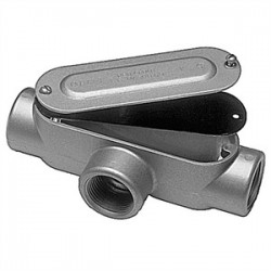 Red Dot - DAT-3-CG - Red Dot DAT-3-CG Conduit Body, Type: T, Size: 1, Cover/Gasket, Aluminum