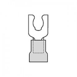 Moldex - 0190990028 - Molex Premise Networks 0190990028 Fork Terminal, PVC Insulated, 14 - 16 AWG, #6 Stud, Mylar Tape, Blue