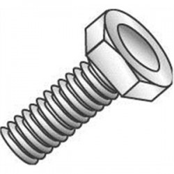 Cully / Minerallac - 55032 - Cully 55032 Hex Head Bolt, 1/4 x 2, Steel, Zinc Plated