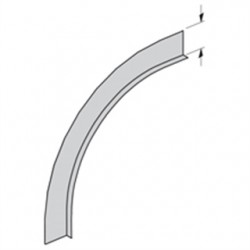 Eaton Electrical - 74A-90VO12 - Cooper B-Line 74A-90VO12 Barrier Vertical Outside 90 Bend, 12 Radius, 4 Deep, Aluminum