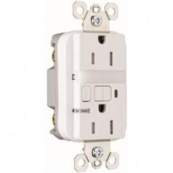 Pass & Seymour - 1595-NTLTRWCC4 - Pass & Seymour 1595-NTLTRWCC4 Nightlight/GFCI Combo, 15 Amp, White, Tamper Resistant
