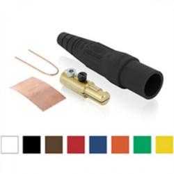 Leviton - 16D21-UE - Leviton 16D21-UE Cam Connector, Male Plug, Single Set Screw, #2 - 2/0, Black
