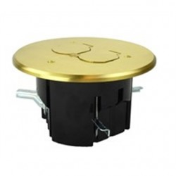 Allied Moulded - FB-7 - Allied Moulded FB-7 Floor Box Assembly, Includes Flip Lid for a Duplex Device, Brass