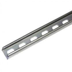 Atkore - P1000T-10PG - Unistrut P1000T-10PG Channel - Elongated Holes, Steel, Pre-Galvanized, 1-5/8 x 1-5/8 x 10'
